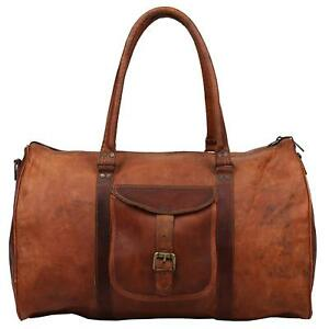 Unique-Leather-Luggage-Gym-Weekend-Overnight-Duffle-Large-Holdall-Bag