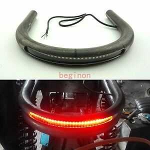 78 Tube Cafe Racer Seat Frame Hoop Brat Loop With Led Brake Turn