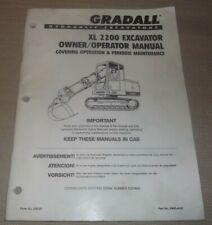Gradall Xl 2200 Excavator Operator Operation Amp Maintenance Manual Book