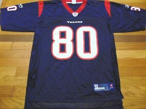 low priced 2cc76 d5c38 Details about REEBOK NFL EQUIPMENT HOUSTON TEXANS ANDRE JOHNSON JERSEY SIZE  M