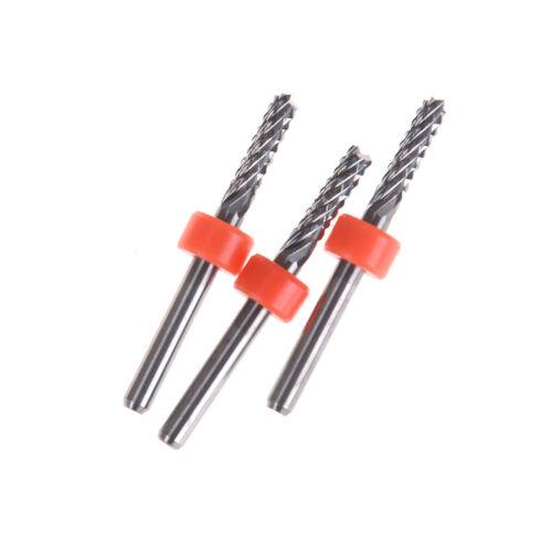 3.175mm Carbide Tungsten Corn Cutter cutting PCB milling bits CNC router bit b'