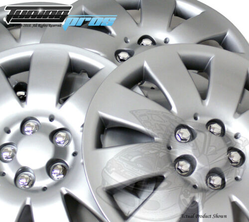 """4pc Qty 4 Pop On Wheel Cover Rim Skin Cover 16/"""" Inch #721 Hubcap Silver"""