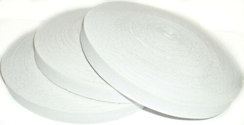 WHITE KNITTED ELASTIC 33MTR ROLL FREE P/&P 18MM WIDE *REDUCED TO CLEAR*
