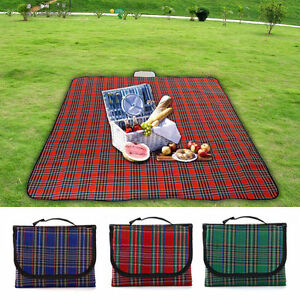 Details About Extra Large 200x150cm Waterproof Picnic Rug Travel Outdoor Beach Camping Mat