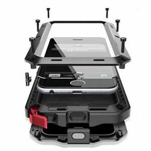 Coque intégrale iPhone XS MAX Antichoc étanche Gorilla Extreme Protection Aluminium Housse Etui Pour iPhone XS MAX(6.8'') Noir