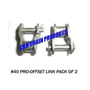 #40 Offset Link. #40 Half Link, Go Kart, Mini Bike, Repair Link, Pack of 2