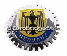 1 - NEW Chrome Grill Badge Germany Coat of Arms EAGLE VARIANT GERMANY MEDALLION