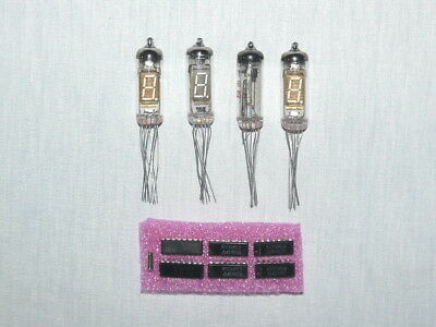 IV-6 + 6 chip, set KIT modified VFD Nixie clocks for cars