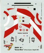 BMW  M1 N°43 GOSSER BEER  MUGELLO 1980 PIRONI QUESTER  DECALS 1/43