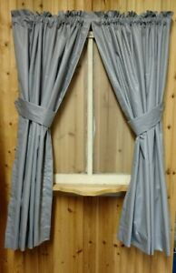 Gray Curtains 84 Quot Wide By 65 Quot Long Not Lined Ebay