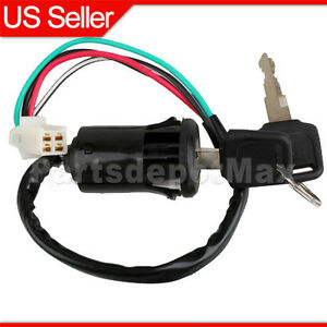 key switch wiring diagram for 2001 yamaha r6 parts 4-wire ignition switch key 50cc 70cc 90cc 110cc 125cc atv ...