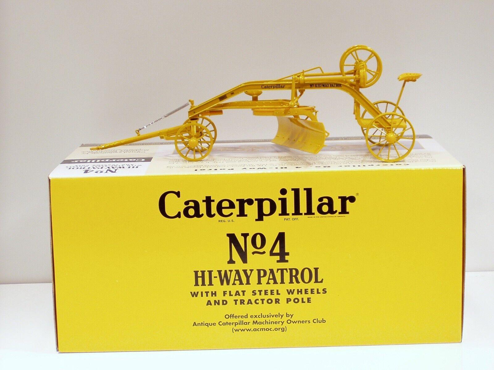 Caterpillar No.4 Hi-Way Patrol NIVELEUSE -  1 16 - Spec Cast   Cust 1105  préférentiel