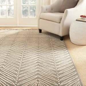 Martha Stewart By Safavieh Chevron Leaves Wool Viscose Rug Ebay