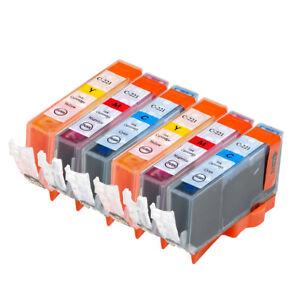 6-NON-OEM-INK-CARTRIDGE-CANON-CLI-221-PIXMA-IP3600-IP4600-MP620-MP980-C-M-Y
