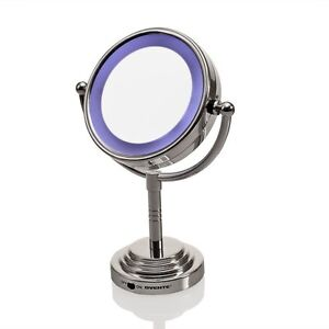 ovente mlt28c led battery operated tabletop vanity mirror 1x 5x new ebay. Black Bedroom Furniture Sets. Home Design Ideas
