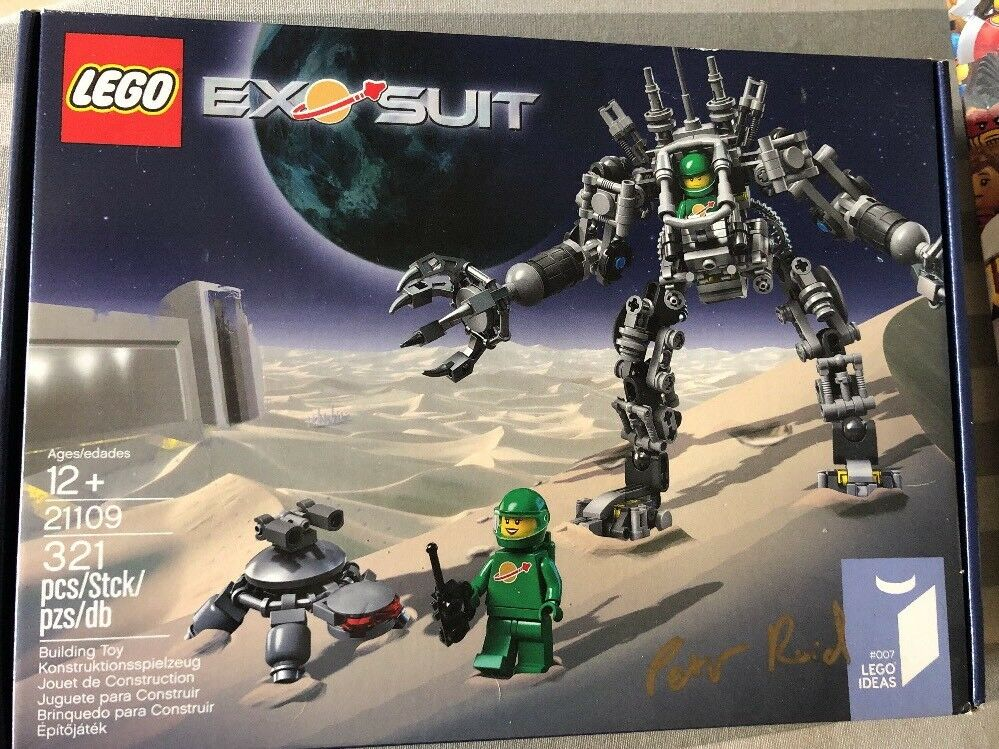 Lego Ideas 21109 Exo Suit signed by designer Peter Reid Rare Brand New Sealed