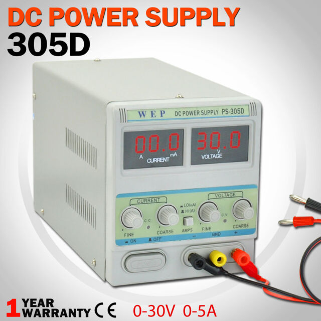 30V 5A Adjustable DC Power Supply Lab Precision Variable LED Digital Display