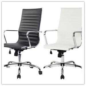 Chaise-de-bureau-executif-PU-tabouret-pivotant-Chaise-reglable-ergonomique-NEUF