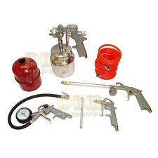 5 Pcs Air Tool Kit Spray Blow Clean Wash Gun Line Hose Tire Inflator Accessory