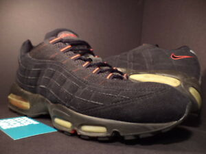 promo code 7f534 d6108 Details about 2000 Nike Air Max 95 1995 BLACK COMET RED BRED SUEDE  604116-063 11.5