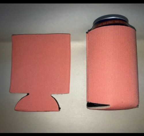 Coral Color 25 Can Cooler Huggie Koozie Blank Sublimation Weddings Birthday Fun