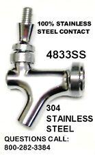 All 304 Stainless Steel Beer Faucet Kegerator Home Beer Tower Keg Bar Tap4833ss