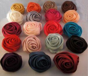 HAARBLUME-ROSE-20-Farben-HAARBLUTE-ANSTECKBLUME-STOFFBLUME-BROSCHE-HAARSPANGE