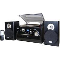 Jensen Stereo Record Player System Home Shelf Sound Speakers Ipod Aux Vinyl Cd
