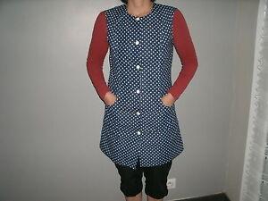 blouse nylon  nylon  kittel nylon overall N° 635  T40/42