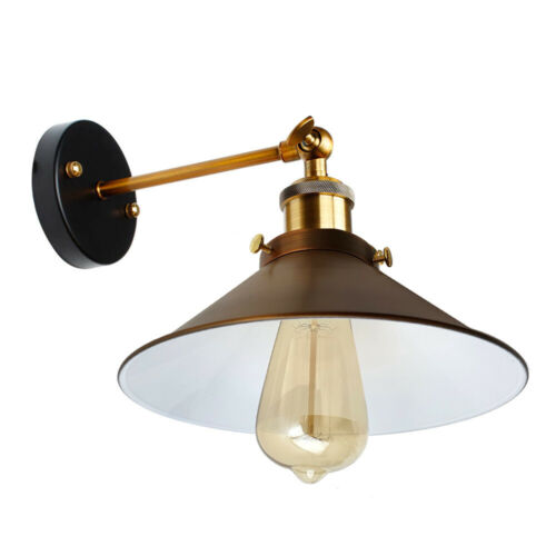 Vintage industrial wall lamp sconce plain gold shade loft wall light Lampshade
