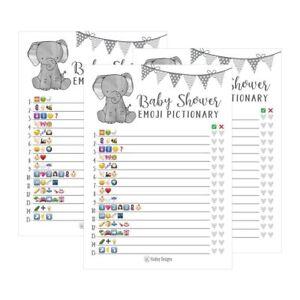 25 Elephant Emoji Pictionary Baby Shower Games Ideas For Men Women