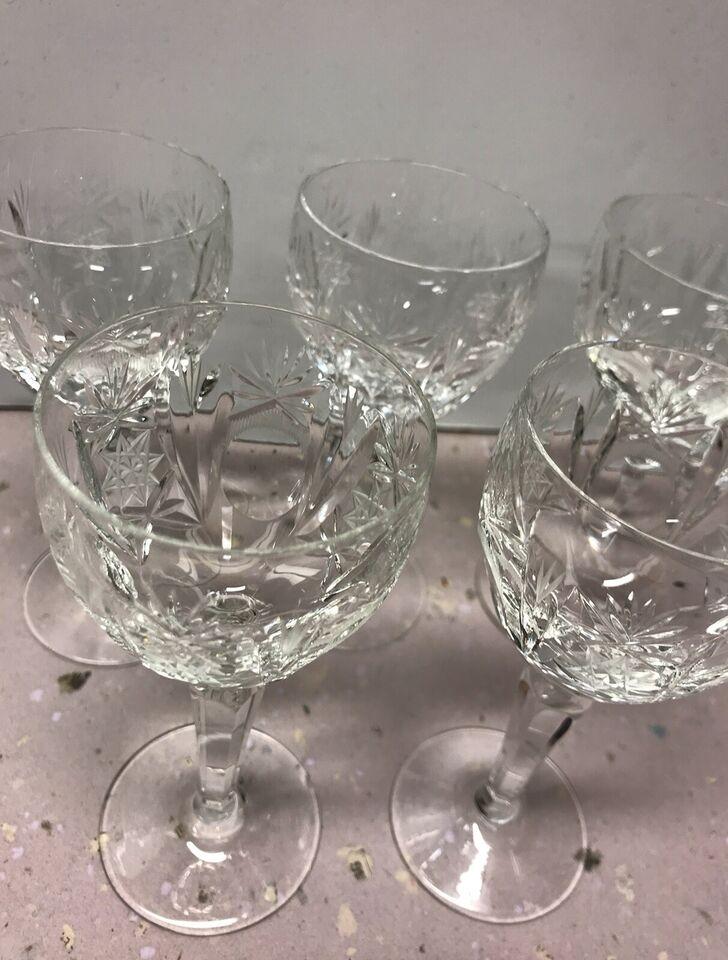 Glas, Krystal dessert vin glas, Vintage