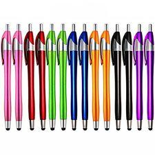 iPad Stylusskoloo 14 Pack 2 in 1 Slim Long Click Ink Stylus Ballpoint Pen