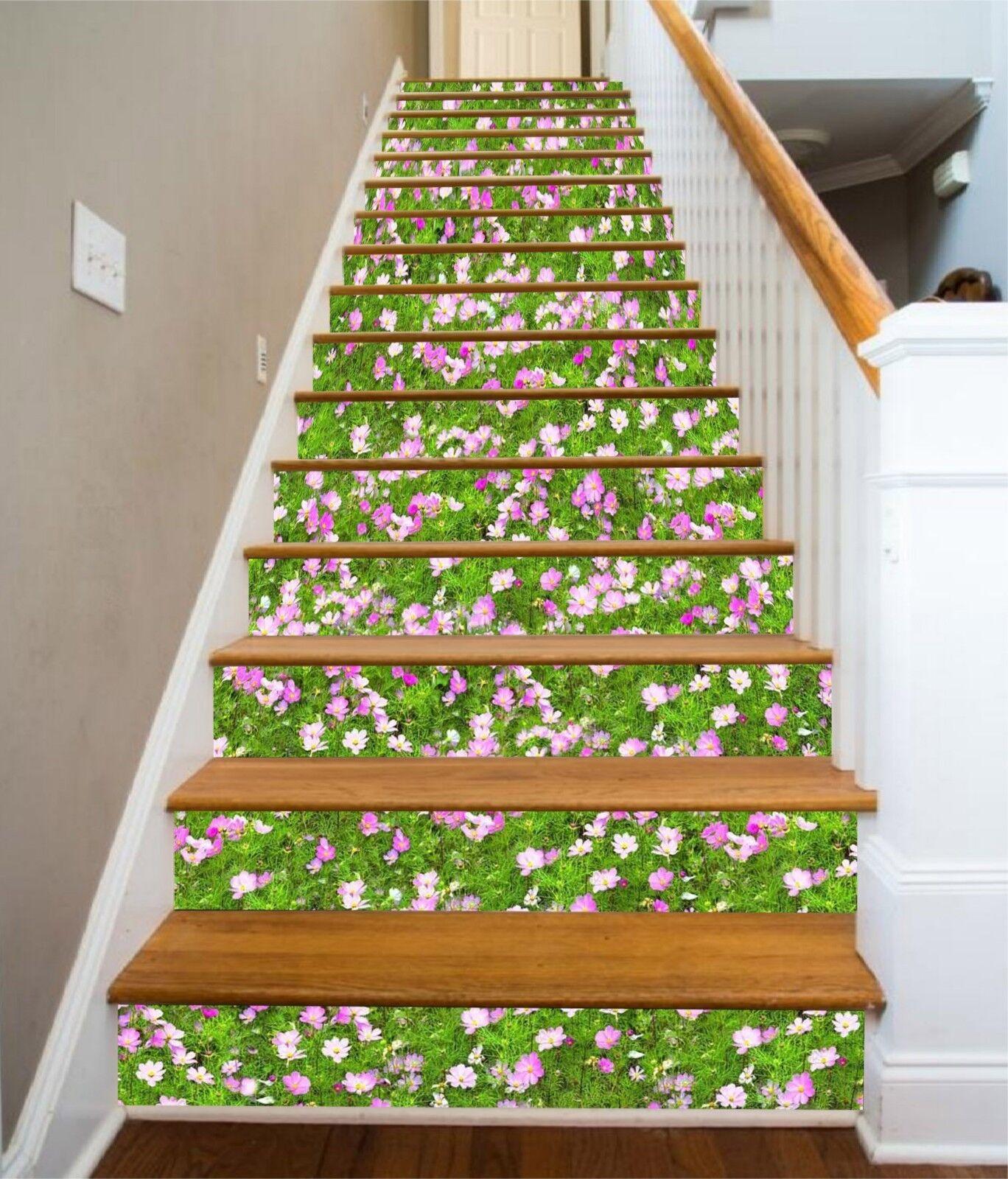 3D Field Flowers Stair Risers Decoration Photo Mural Vinyl Decal Wallpaper CA
