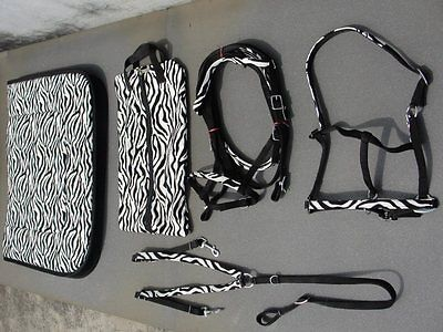 ZEBRA PRINT BLACK/WHITE PACKAGE SIZES AVAILABLE PONY, COB AND FULL