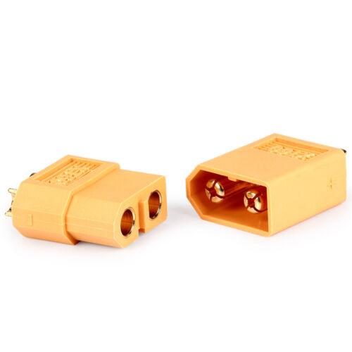 2//20//40pcs XT60 Male /& Female Bullet Connectors Plugs for RC Lipo Battery FF