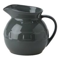 Longaberger Woven Traditions® Pottery Ball Pitcher Pewter
