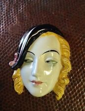 Goebel Art Deco Lady Wall Mask  1930s