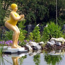 BADENDE ELLI BADEANZUG gelb FRAU SCHWIMMERIN BADENIXE TEICH Garten Deko Figur