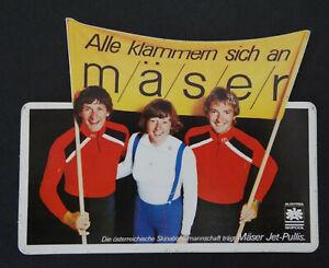 Fan-Aufkleber Mäser Franz Clip 70er Ösv Austria Skipool Ski Clothing