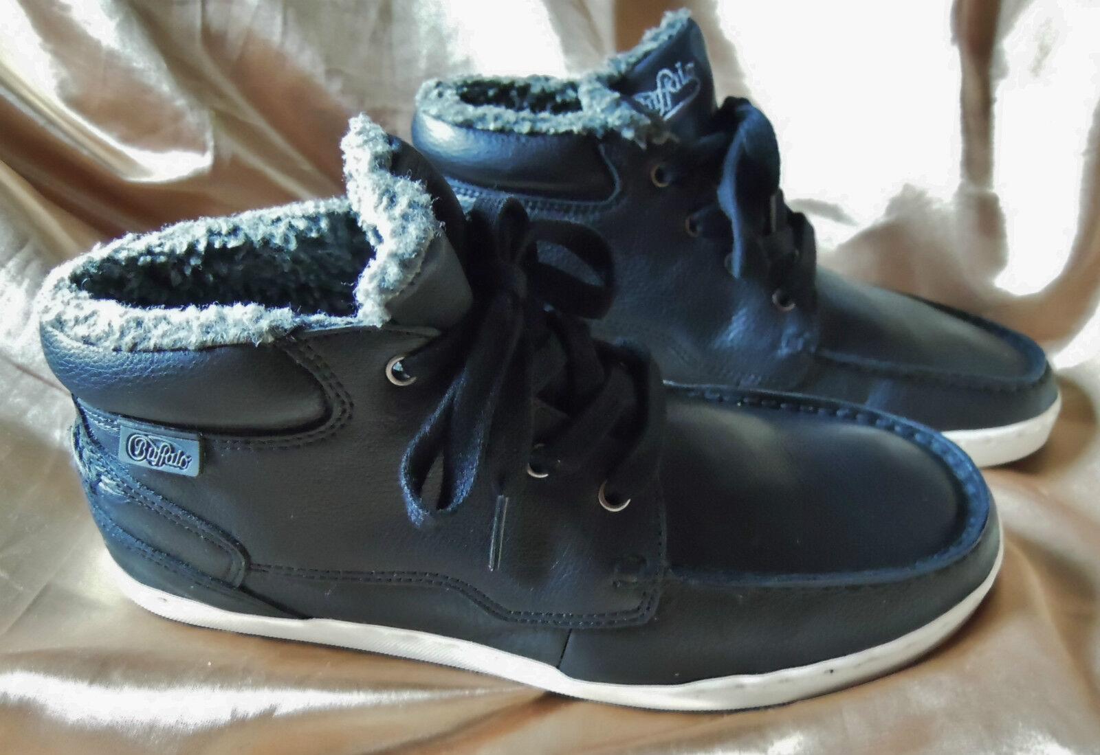 Buffalo botín cortos talla 40 negro negro negro acogedor fell comida cómomujerte intemporal  tiendas minoristas