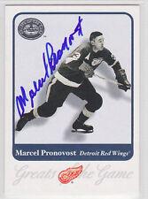 Marcel Pronovost Red Wings Hall of Fame HOF SIGNED CARD AUTOGRAPHED