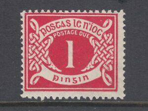 Ireland-Sc-J2-var-MLH-1925-1p-carmine-Postage-Due-with-inverted-Q-for-O-error