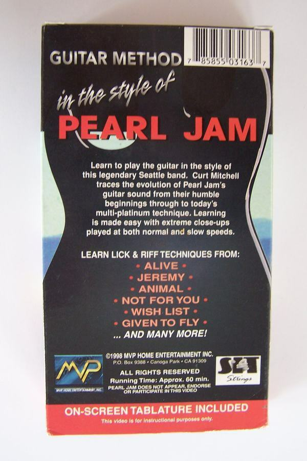 Pearl Jam - Guitar Method In The Style Of VHS Video Tap