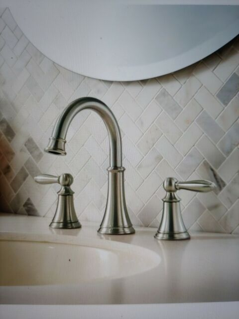 Widespread 2-Handle Bathroom Faucet in Brushed Nickel NEW Pfister Courant 8 in