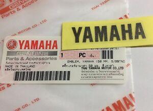 100% Original Yamaha 50mm x 12mm KLEIN Metallic dunkel silber Aufkleber Logo