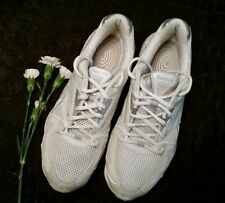 REEBOK EASYTONE SMOOTHFIT ATHLETIC WALK LACE UP SNEAKERS WHITE SILVER sz. 9.4 EU