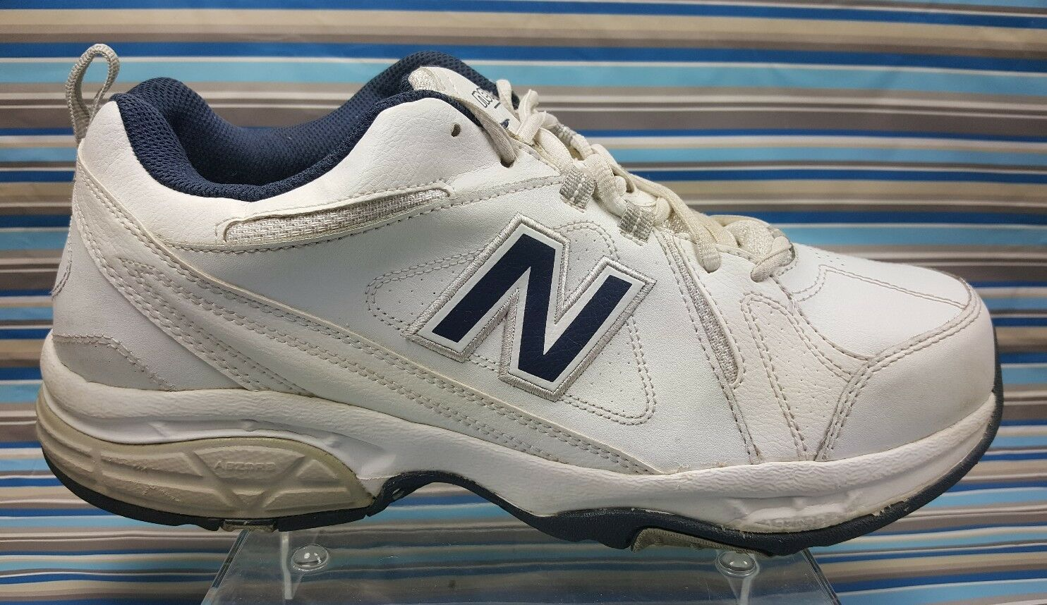 NEW BALANCE 608 V3 RUNNING WALKING TRAINING MEN'S WHITE LEATHER SHOES 12 4E