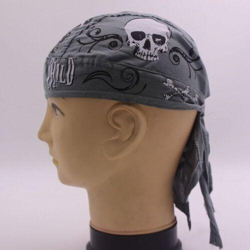 Men Women Cotton Skull Caps Hat Doo Rag Diamond Plate Biker Bandana Head Wrap