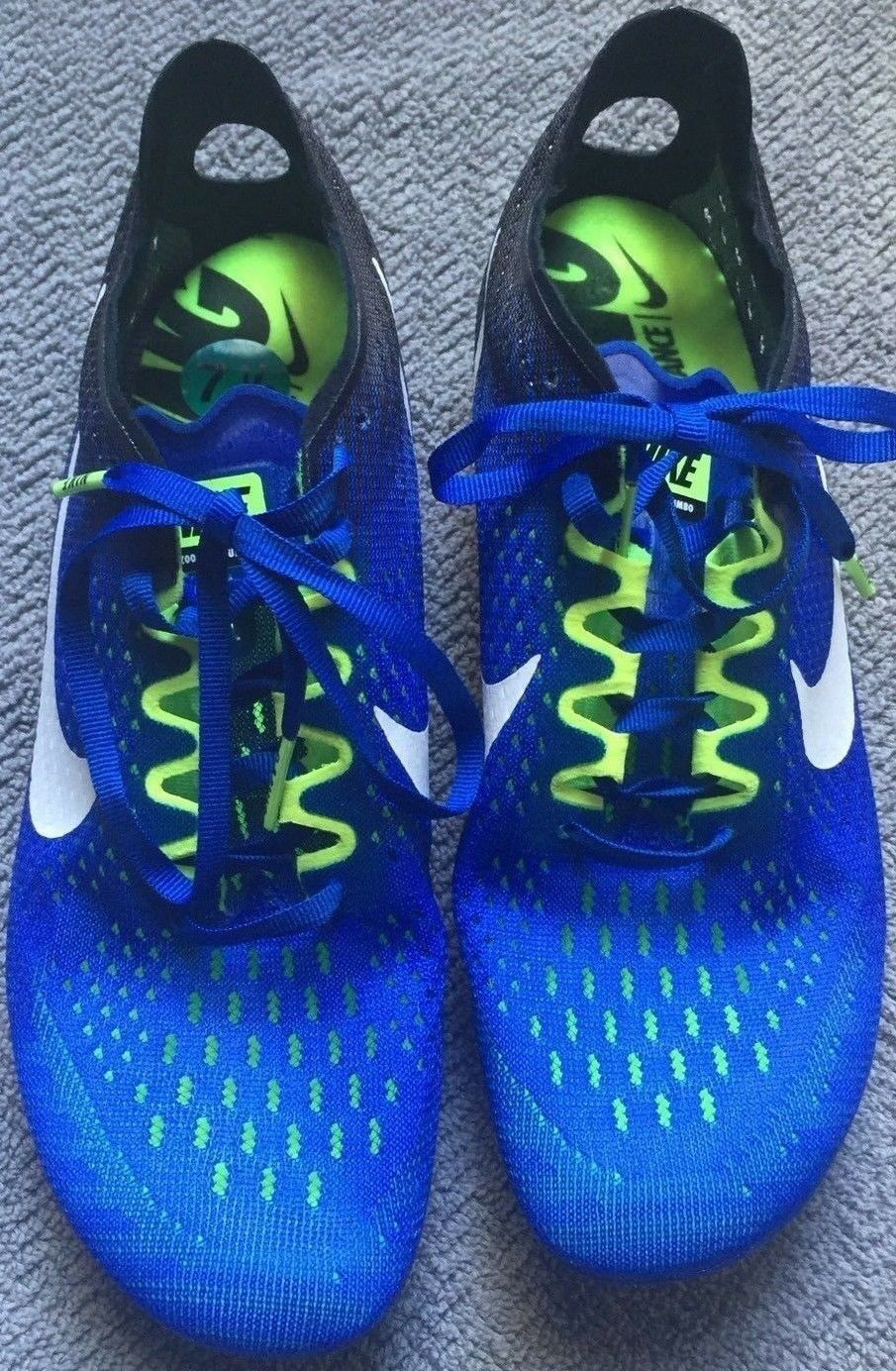 Nike Zoom Matumbo 3 Track Running Spikes bluee White Green (835995-413) Size  7.5
